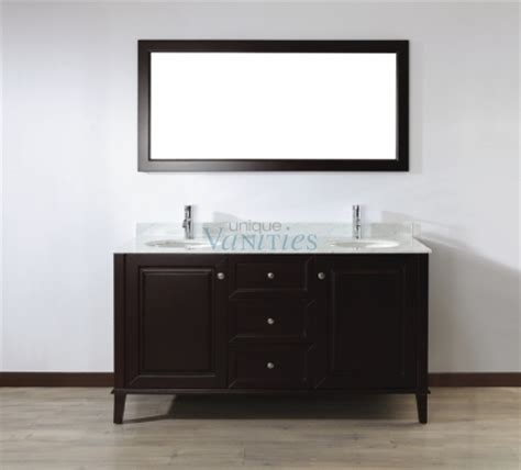 63 Inch Double Sink Bathroom Vanity With Choice Of Top In