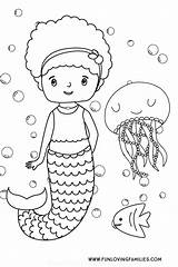 Mermaid Coloring Printables Fun Printable Sheets Funlovingfamilies Sheet Phonics Jolly Worksheets Inch Sea Jellyfish Families Loving sketch template