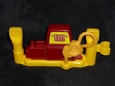 yellow porsche lil pump fisher price little people garage gas station pump red