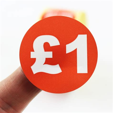 price labels stickers mm diameter red white