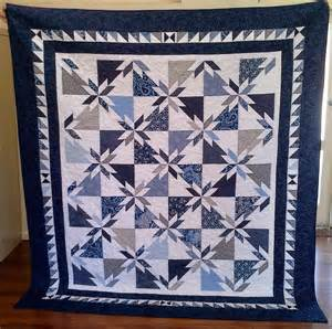 Blue and White Hunters Star Quilt Pattern