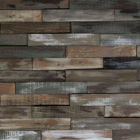 home depot reclaimed wood nuvelle deco planks weathered gray 1 2 in thick x 2 in wide x 12 in length solid hardwood