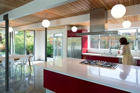 ways    midcentury modern kitchen layout