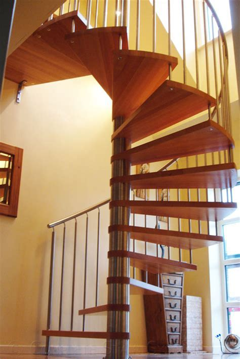 Spiral Staircase Preston with timber treads and a