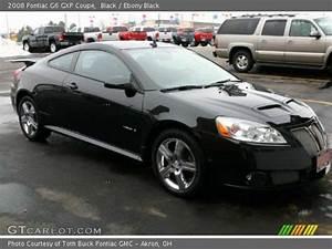 Black 2008 Pontiac G6 GXP Coupe Ebony Black Interior