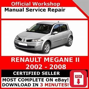 Factory Workshop Service Repair Manual Renault Megane Ii 2002