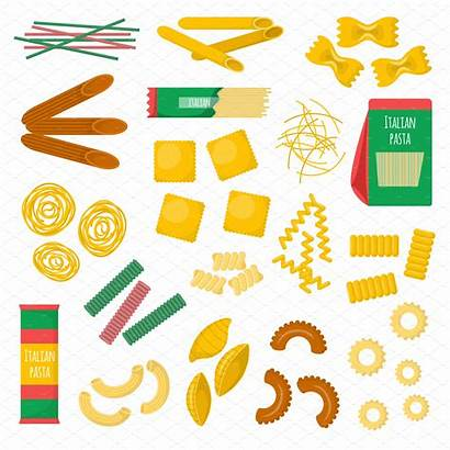 Pasta Vector Clipart Illustration Canelones Macaroni Ps