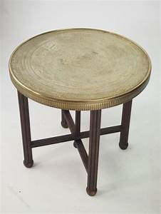 berber benares brass tray top coffee table antiques atlas With antique tray top coffee table