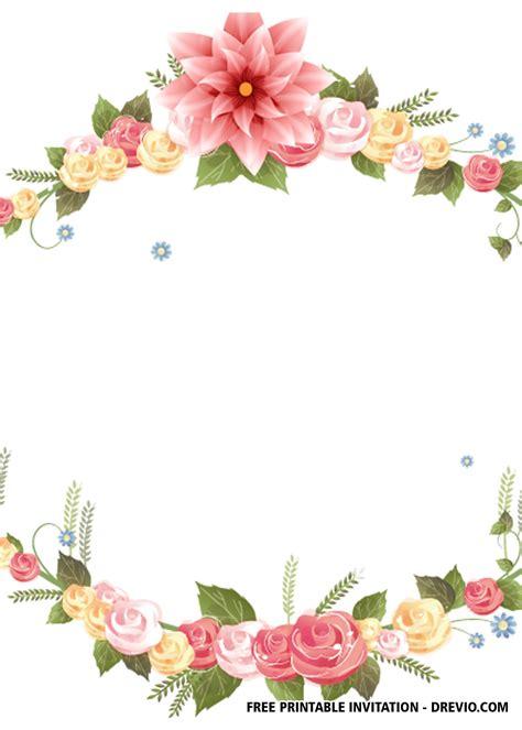 FREE Floral Wedding Invitation Templates DREVIO
