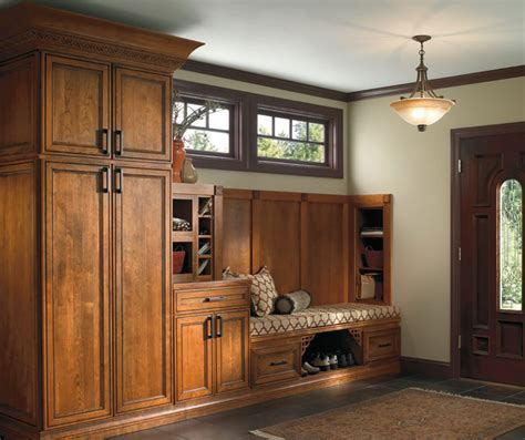 Cherry Entry Way Cabinets   Schrock Cabinetry