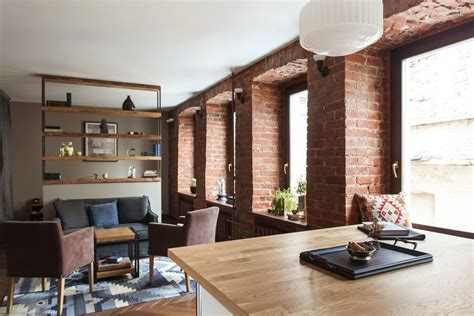 studio apartment stays authentic  keeping  brick