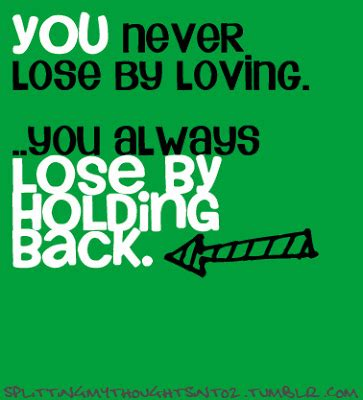 Holding Back Feelings Quotes