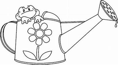 Coloring Tools Gardening Sheet Watering Pages Children
