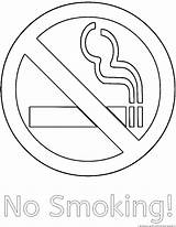 Smoking Coloring Clipart Template sketch template
