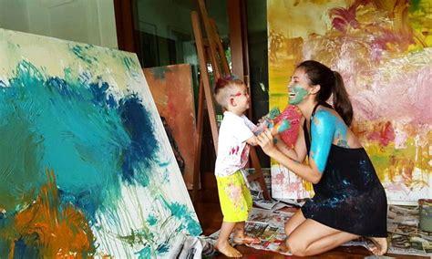 solenn heussaff reveals  inspiration   paintings