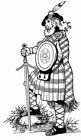 Kilt Clipart Highlander Tartan Highland Games Highlanders Drawing Scotland Scottish Coloring Angus Cabin Wear Clan Kilts Ayrshire Getdrawings Sketch Clipground sketch template