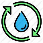 Cycle Water Icon Ecology Arrows Recycle Outline