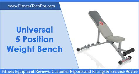 Universal Five Position Weight Bench by Universal 5 Position Weight Bench Review Fitness Tech Pro