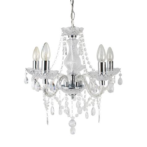 Modern Chrome Chandelier by Modern Classic Clear Chrome Therese 5 Light