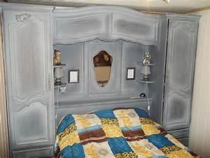 Armoire Pont De Lit : chambre lit pont et armoire murale ~ Teatrodelosmanantiales.com Idées de Décoration