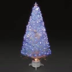 sale on 6ft 180cm polar white fibre optic blue led tree trees and