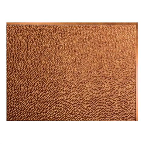 shop fasade antique bronze faux fasade 24 in x 18 in hammered pvc decorative backsplash