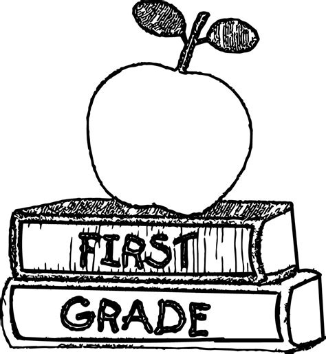 1st grade coloring pages grade book coloring page wecoloringpage