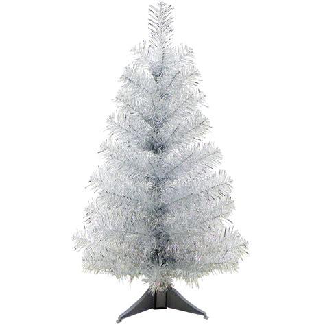 mini desk christmas tree 24 quot mini artificial tinsel desk top christmas tree
