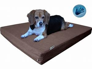 Gel memory foam pet bed durable orthopedic waterproof for for Rugged dog bed