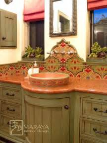 Mexican Bathroom Ideas Bathroom With Malibu Tile Mediterranean Bathroom Santa Barbara By Maraya