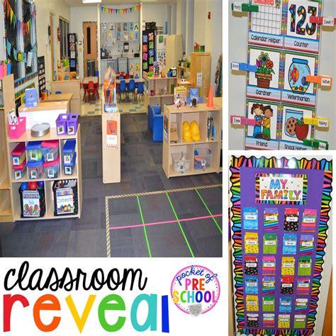 classroom reveal   freebie pocket  preschool