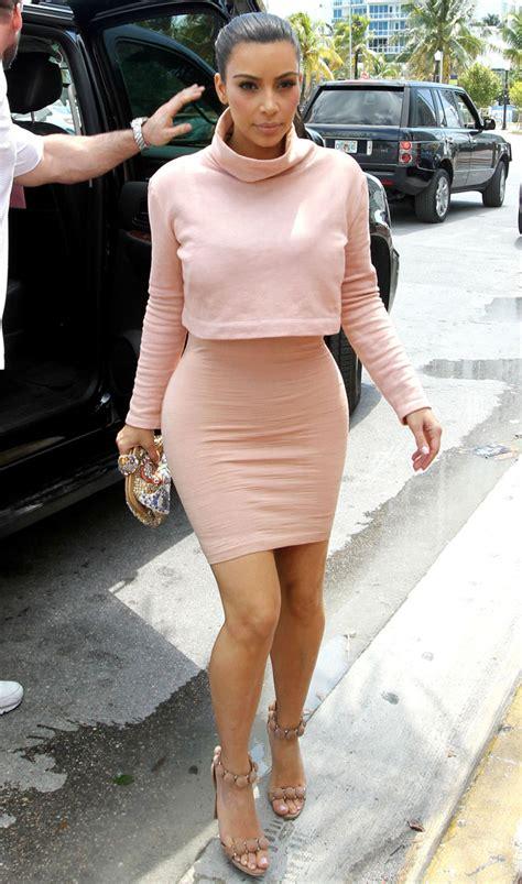Kim Kardashianu0026#39;s nude bodycon dress  Fashion u0026 style advice