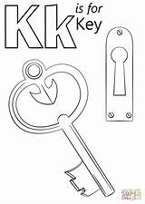 Coloring Key Letter Pages Printable Keyboard Drawings Lock Heart Alphabet Supercoloring Preschool Sheets Crafts Keys Colouring Activities Sheet Kite Worksheet sketch template