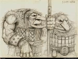 Mountain Troll Drawings