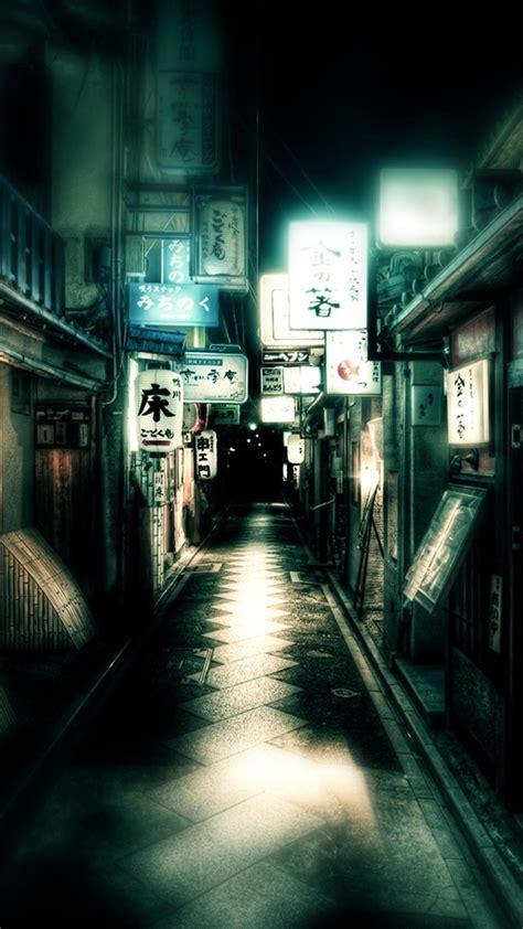 japan dark street android wallpaper