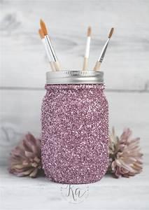 DIY Glitter Mason Jar Tutorial - KA Styles
