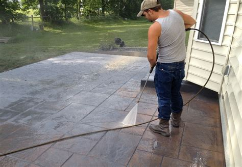 Decorative Kitchen Ideas - how to wash a new sted concrete patio grosse construction services