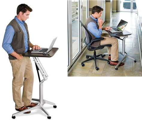 levenger s compact laptop work station converts to a