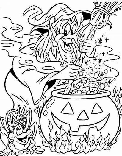 Witch Coloring Pages Witches Printable Halloween 321coloringpages