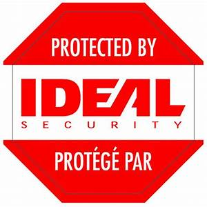 ideal security security warning stickers sk612 the home With what kind of paint to use on kitchen cabinets for truck stickers for back window