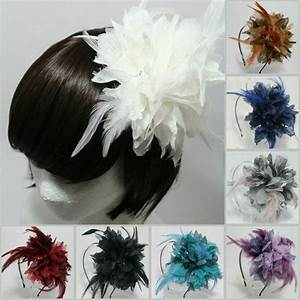 FEATHER HEADBAND BRIDAL WEDDING HAIR ACCESSORIES HEADPIECE