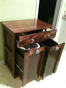 Combo Trash and Recycling Cabinet