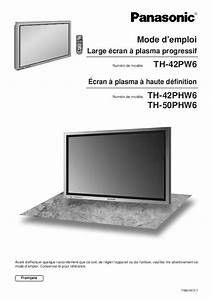 Panasonic Plasma Tv Instruction Manual