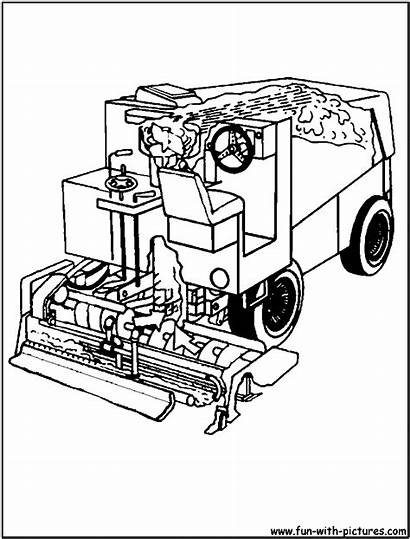 Coloring Pages Truck Garbage Zamboni Printable Colouring