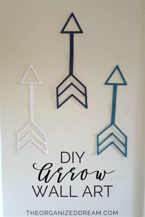 Diy Arrow Wall Art  The Organized Dream