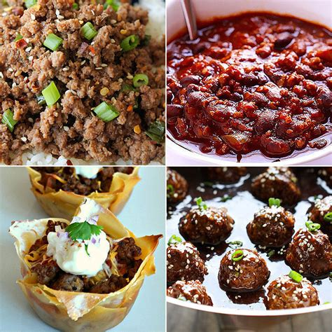 different meals to make with ground beef ground beef recipes popsugar moms