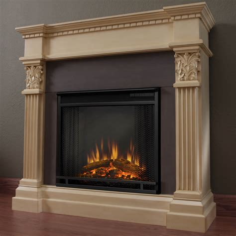 Real Flame Gabrielle Electric Fireplace  Antique White