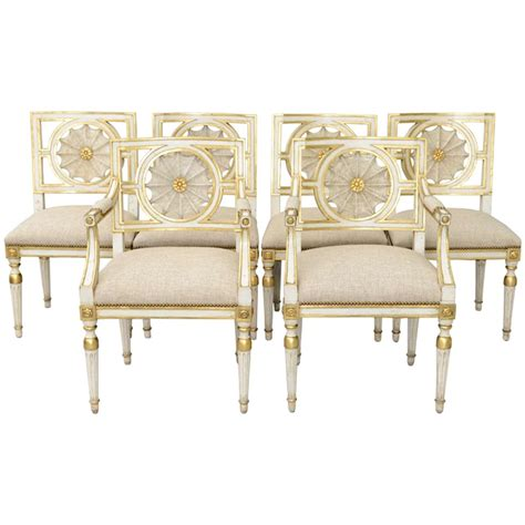 set of six web back italian dining room chairs at 1stdibs