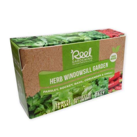 Windowsill Garden Box by Herb Windowsill Garden In A Box Reel Gardening