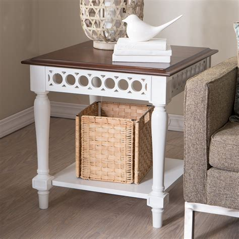 Inexpensive Sofa Tables by Belham Living Jocelyn End Table White Walnut End